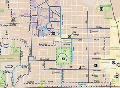 Map Of Manhattan Kansas.Bicycle And Pedestrian Systems Plan Manhattan Ks Official Website