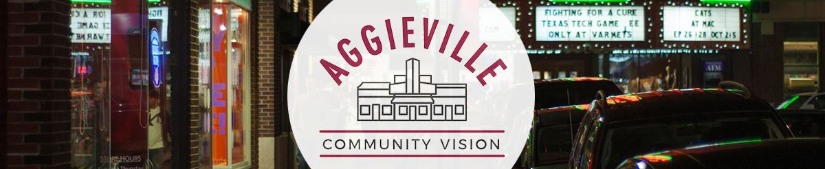 Aggieville Community Vision with outline of Aggieville