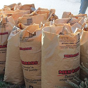 Photo of bags of leaves