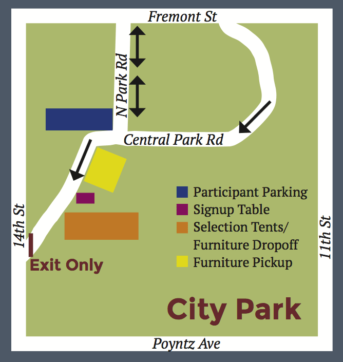 Map of Furniture Amnesty Day site
