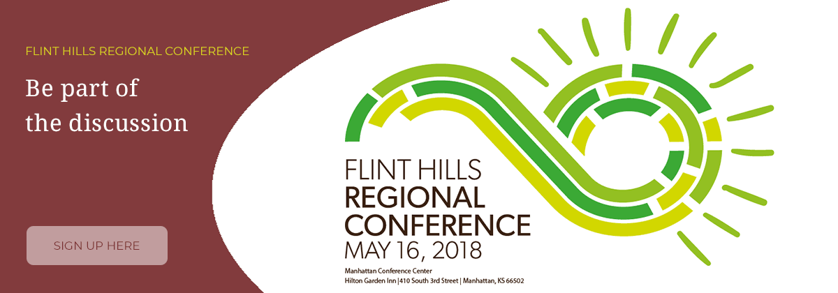logo for the Flint Hills Regional Conference with text Register Here