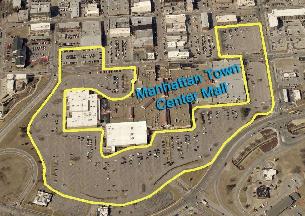 aerial view of Manhattan Town Center