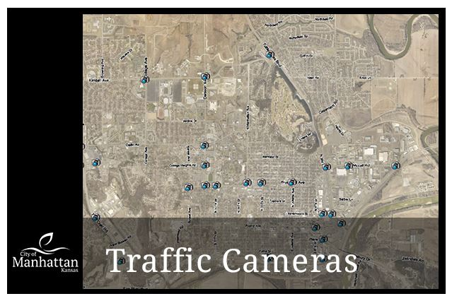 image of traffic map with camera icons