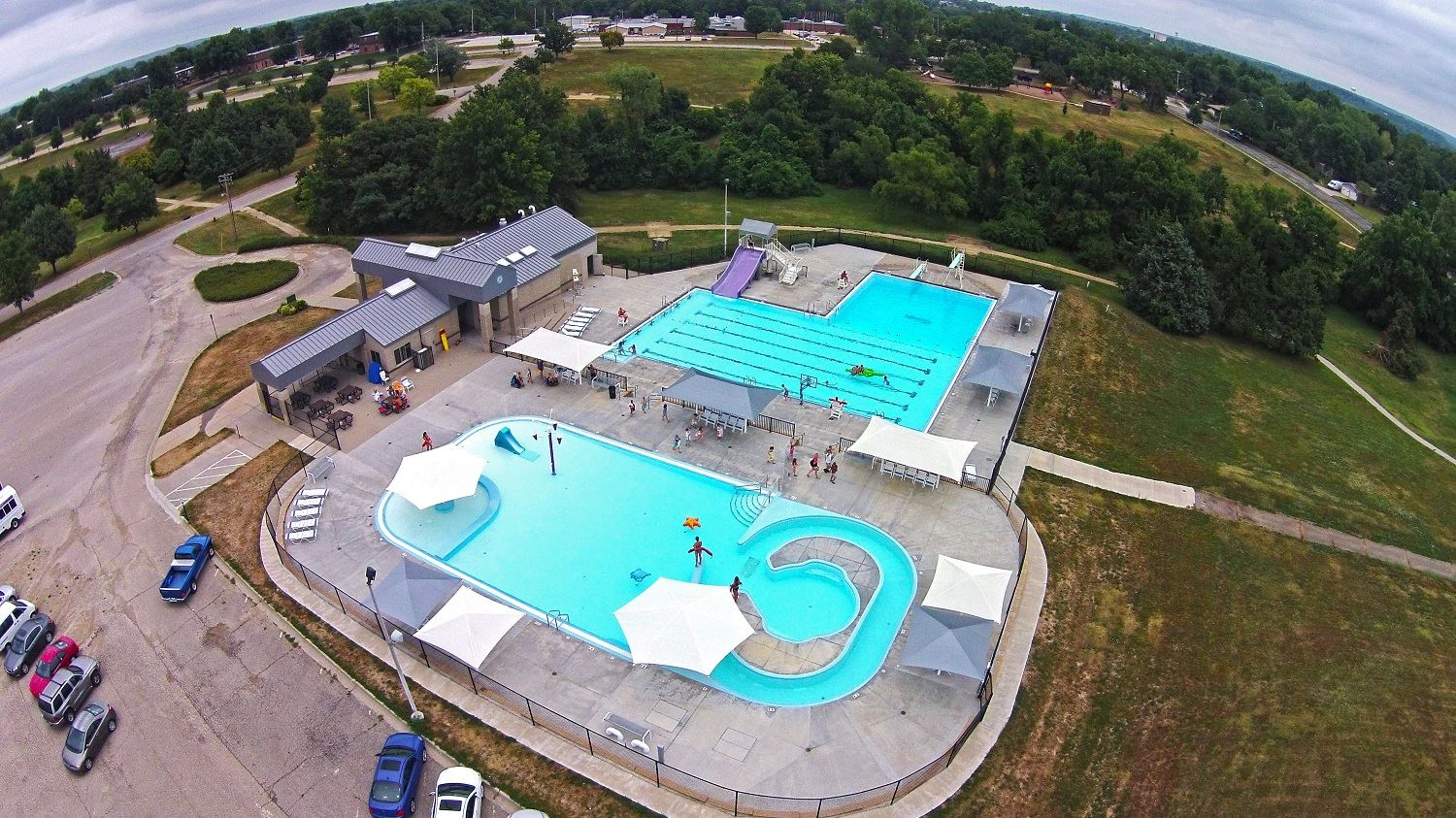 CiCo Pool aerial view