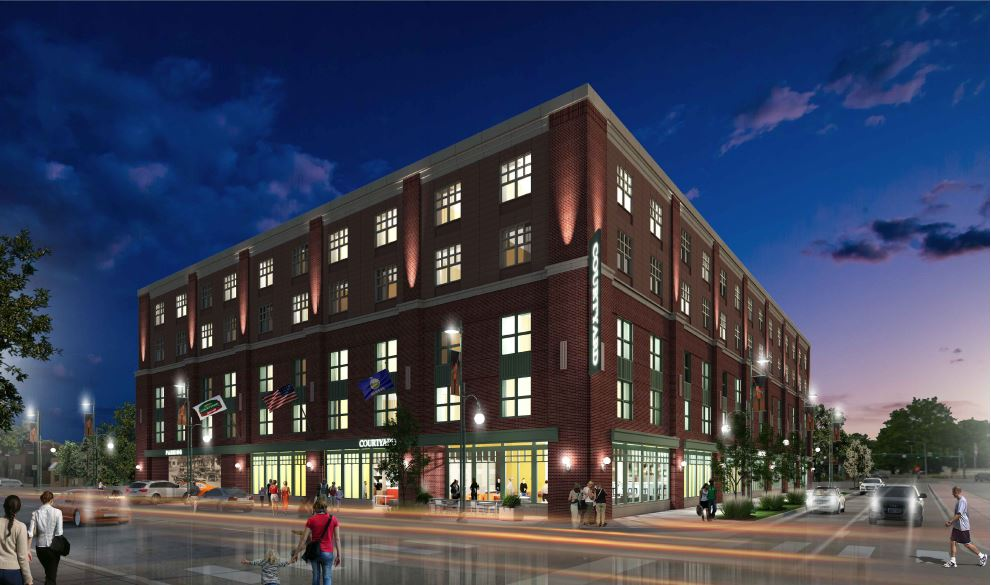 rendering of Aggieville hotel concept