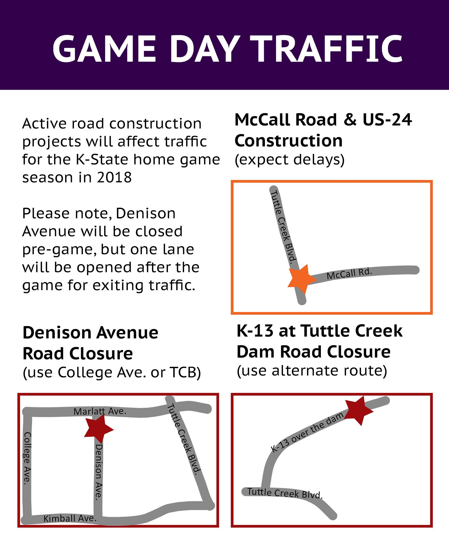 game day traffic map
