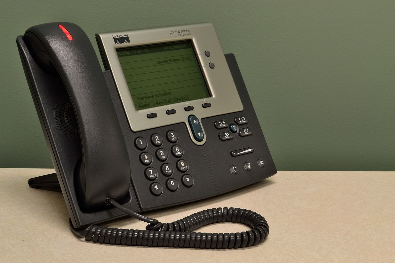 photo of an office telephone