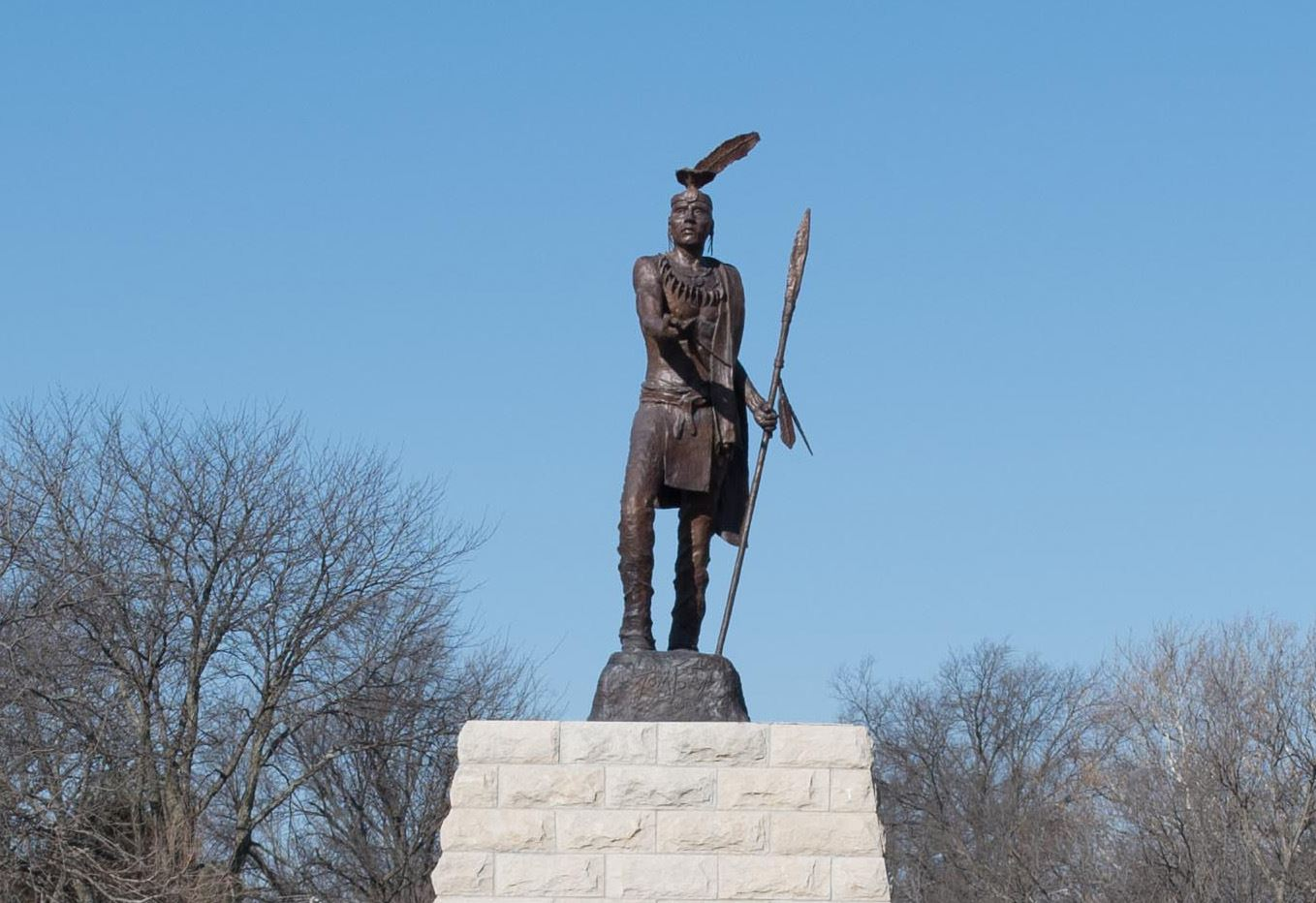 photo of the Peace Offering Statue at 3rd and Bluemont