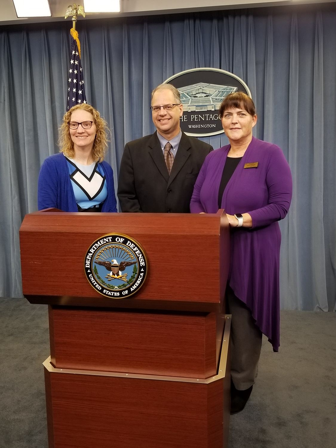 photo of Rob Ott and officials from Fort Riley at the Pentagon