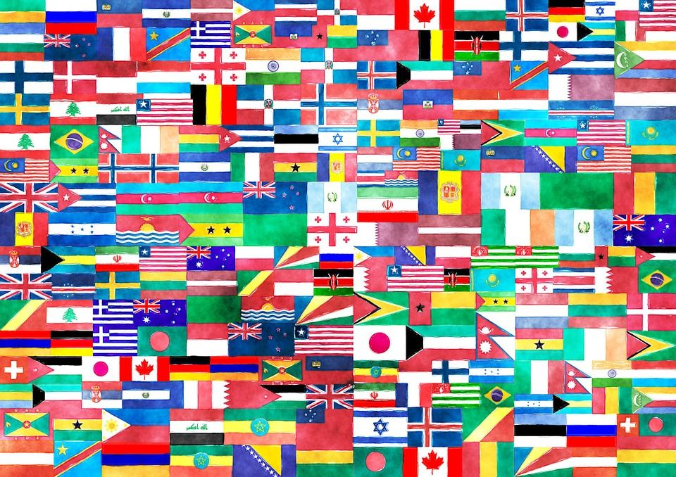 drawing of different flags
