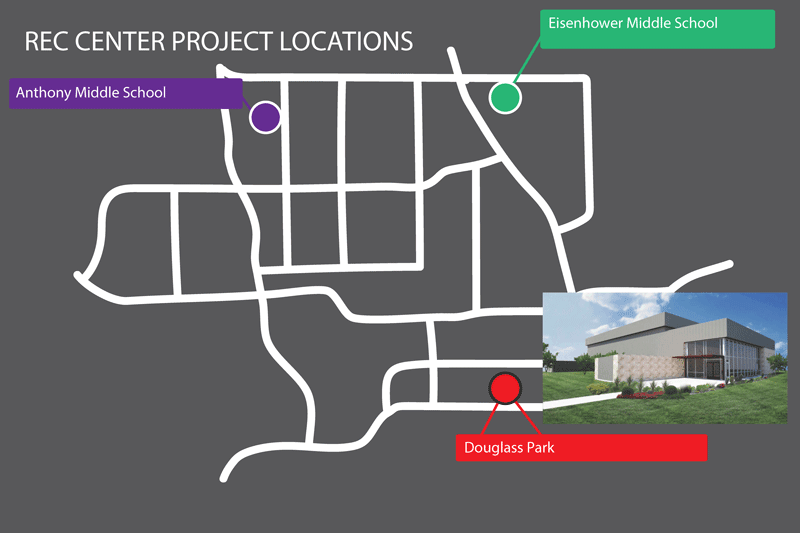 rec center graphic and map