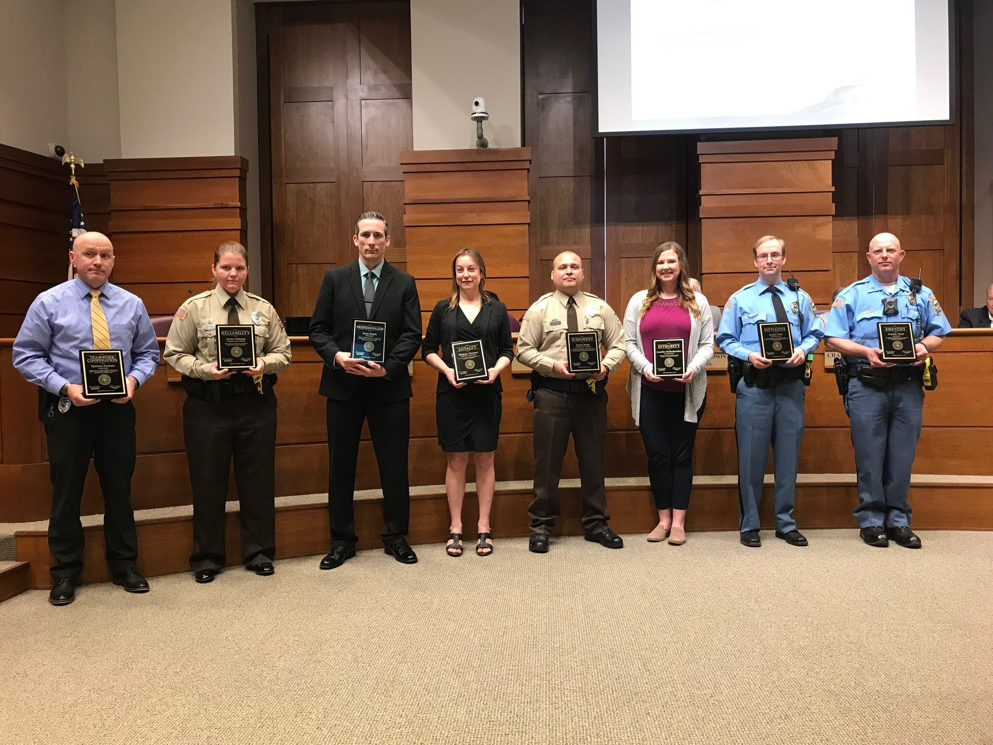 photo of Riley County Police Department employee award recipients