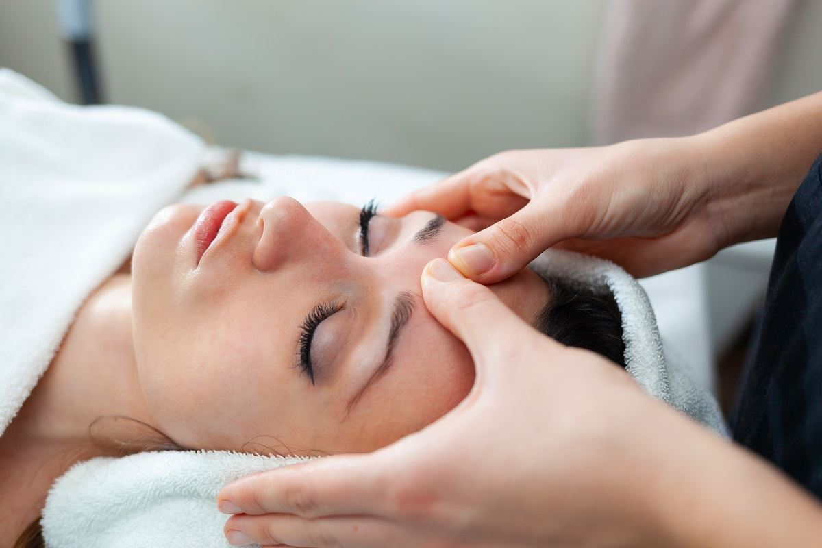 photo of a massage therapy client