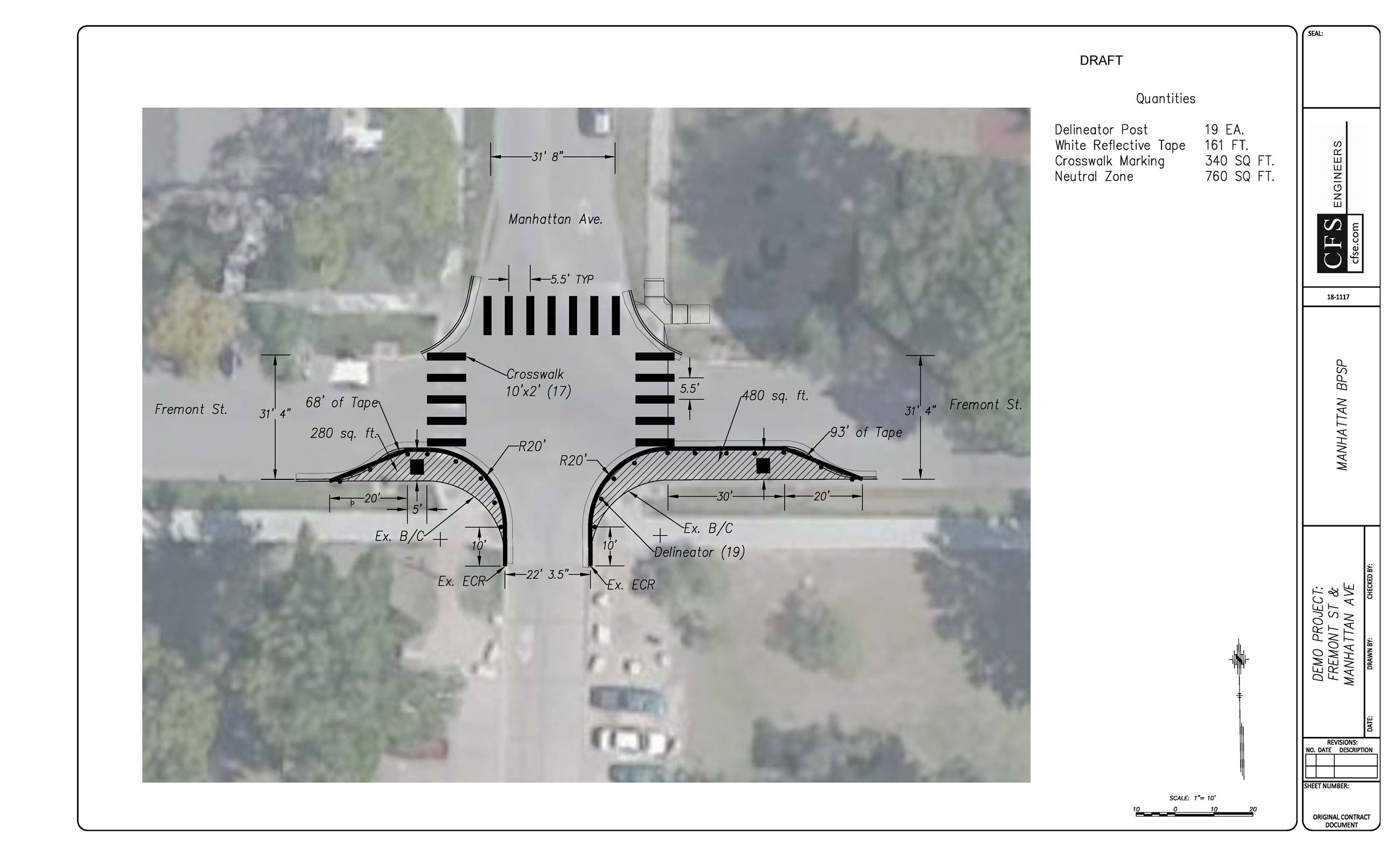 site plan for the bike and pedestrian project demonstration