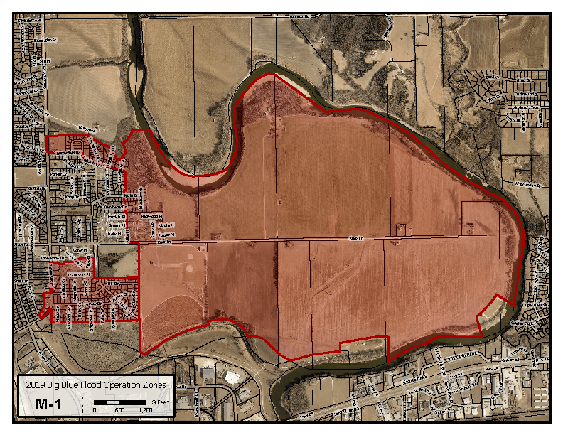map of high water advisory area