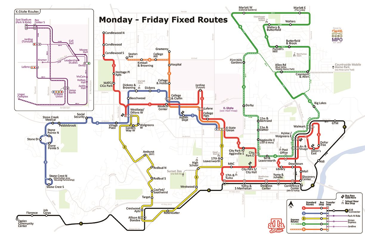 photo of the new aTa Bus route map