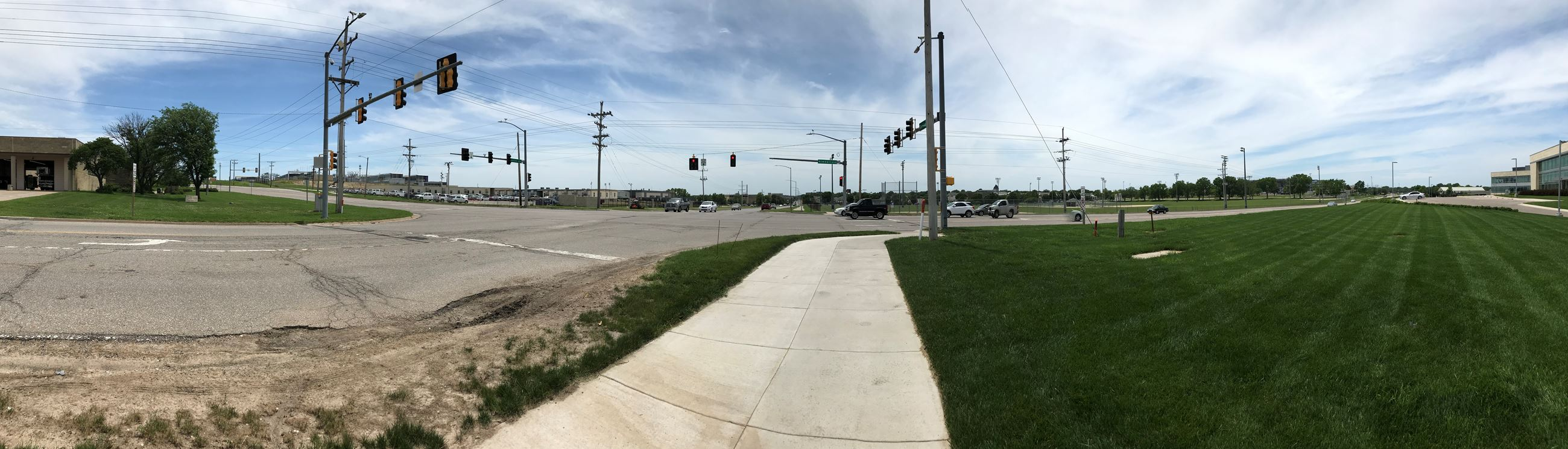 Panoramic of current Denison and Kimball intersection