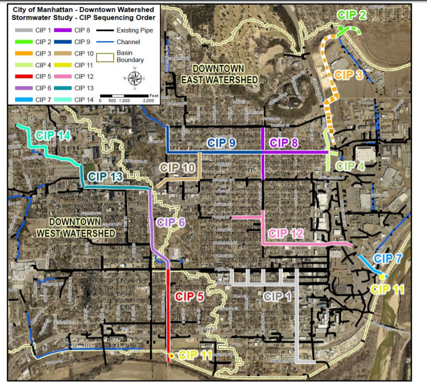 flood mitigation cip project map
