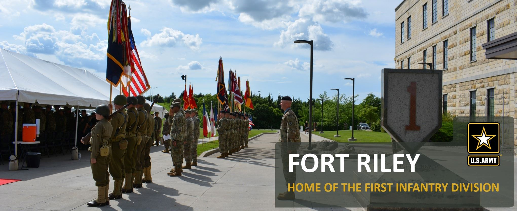 photo of soldiers in formation at Fort Riley