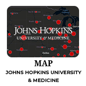 Johns Hopkins Coronavirus spread map