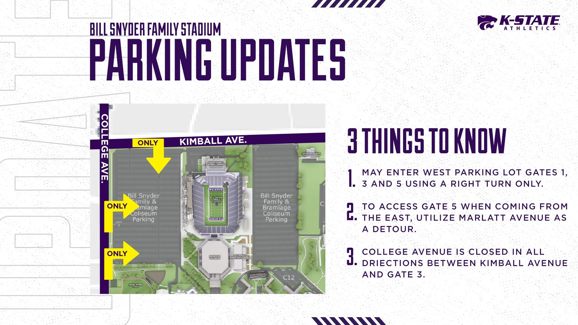 2020 football parking graphic
