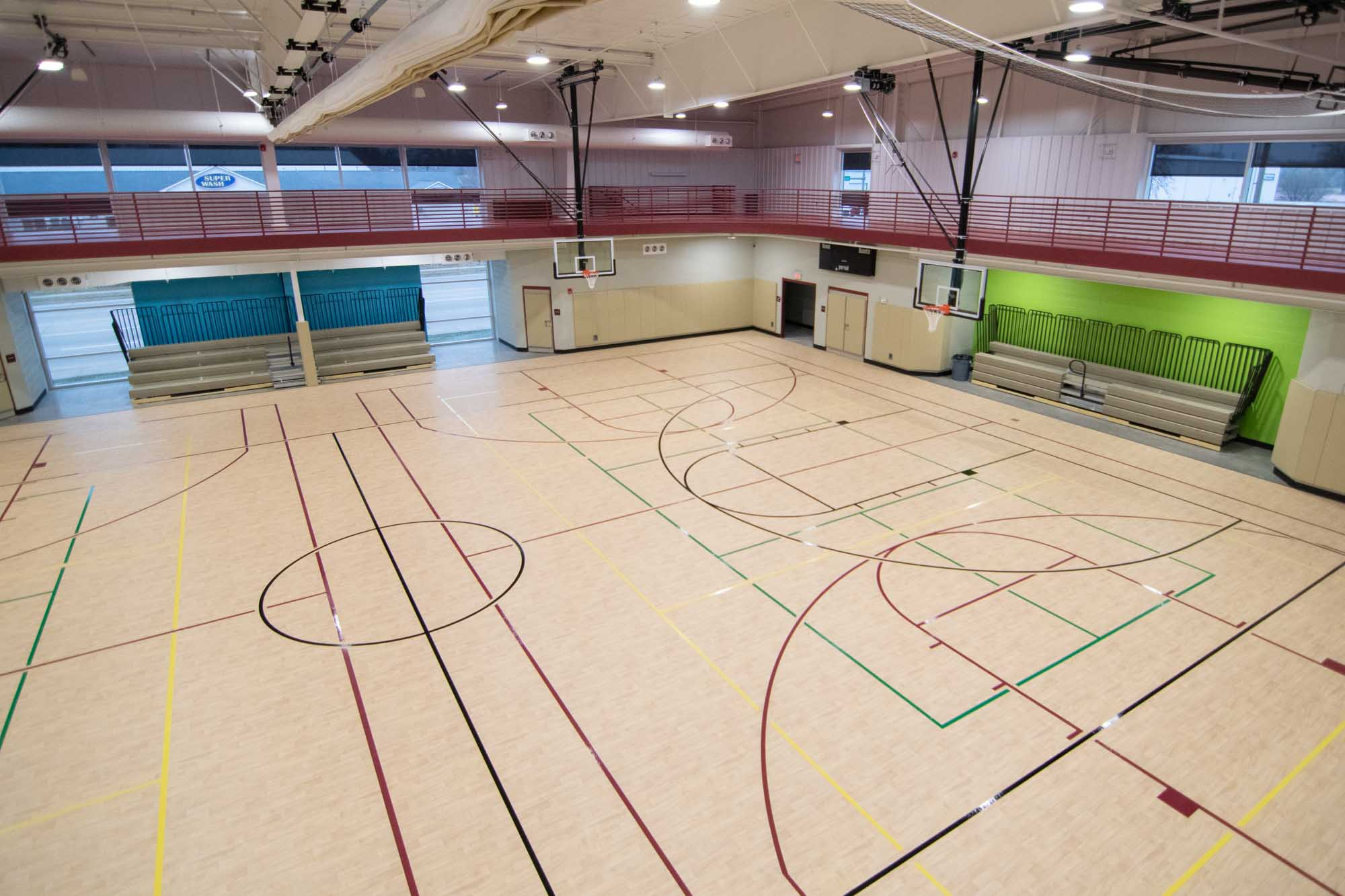 photo of basketball courts at Douglass Activity Center