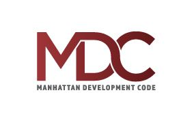 linked MDC letters and logo for Manhattan Development Code