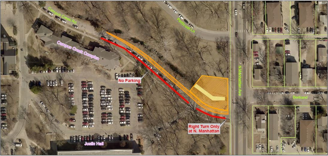 map of Campus Creek RCB project