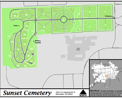 Sunset Cemetery Map